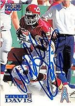 Autograph 124938 Kansas City Chiefs 1996 Pro Line No. 176 Willie Davis Autographed Football Card