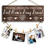 Tuobsm Best Mom's Brag Board-Mom Gifts for Mother from Daughter Son - Gifts for Mom on Birthday Mother's Day, for Picture Hanging and Home Decor