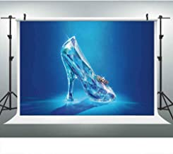 Crystal Shoes Backdrop for Photography 9x6ft Cinderella Shoe Fairy Tale Background Royal Princess Girl Birthday Party Backdrops Photo Booth Props LUCKSTY LUZZ447 Photocall