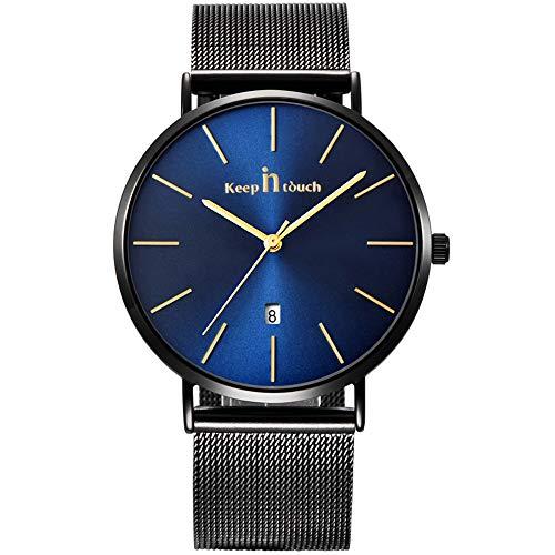 Infinite U-Watch Impermeabile per Gli Uomini Orologi Sportivi Al Quarzo Orologi Analogici Lussuosi Moda Casual Orologio Rotondo Nero/Blu Data