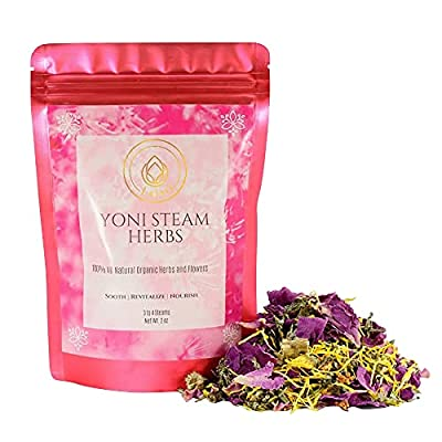 LaJao Yoni Steaming Herbs for V Steam, Herbal Steaming for Women, 2 Ounce 2-4 Steams Vaginal Steam Home Spa, Natural 100% Organic Herbal Blend for Menstrual Cycle Menopause Fertility V Detox Steam by Silver Cloud