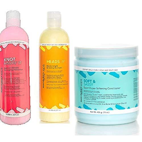 Tía jackies niña! purificante, Condición & hidratante Trío Conjunto De Productos para niñas con Fabulous RIZOS & BOBINAS