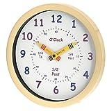 Unity - Reloj de Pared para niños Henley 'Aprende Las Horas', 25 cm, Color Crema