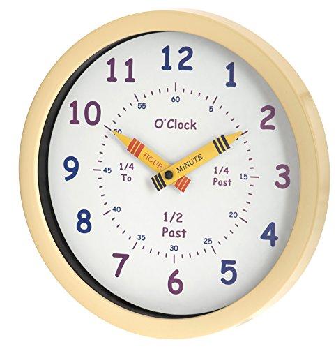 Unity Orologio Henley per Bambini 25 cm Impara a Leggere l'Ora, Crema