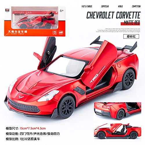 Ezyz Pull Back Cars Toy Vehicles Toy,1:32 Alloy Inertial Sports Car Mould Docoration for Children Adults Metal red -  toytez-LLX-190904-E76A777C20