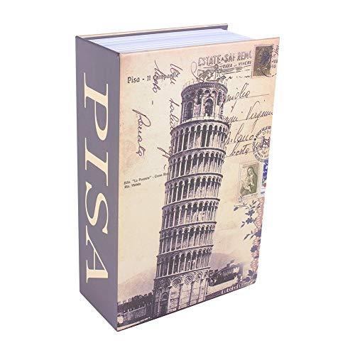 SH-RuiDu Caja de seguridad para libros de diccionario, caja de seguridad, caja de dinero en efectivo de joyería (torre inclinada de Pisa)