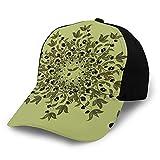 Gorra de béisbol para papá de tamaño ajustable para correr entrenamientos y actividades al aire libre, ramas de aceitunas de follaje mediterráneo, hojas y frutas
