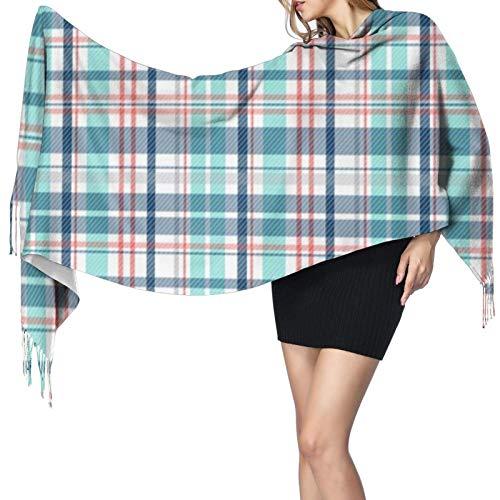 Bufandas de mujer invierno largo suave cálido cubierta silla cuadros cachemira pashmina chales envuelve borla chal estola bufanda