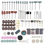 HSEAMALL 216 piezas Kit de accesorios de herramienta rotativa, vástago de 1/8 pulgadas de diámetro, ajuste universal, corte, molienda, lijado, afilado, tallado y pulido