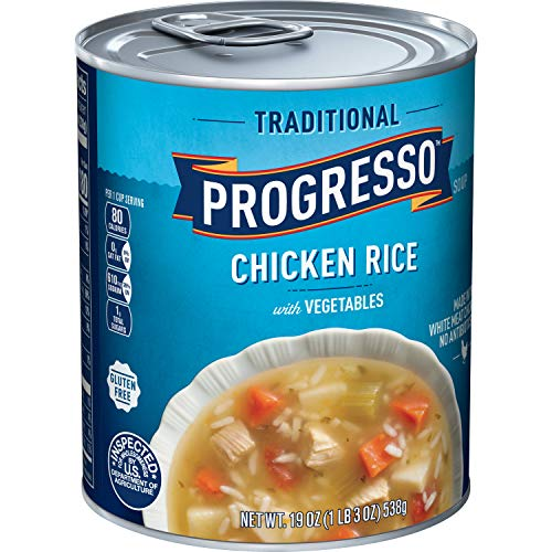 Progresso Soups Traditional Soup, Chicken Rice with Vegetables, 19 oz