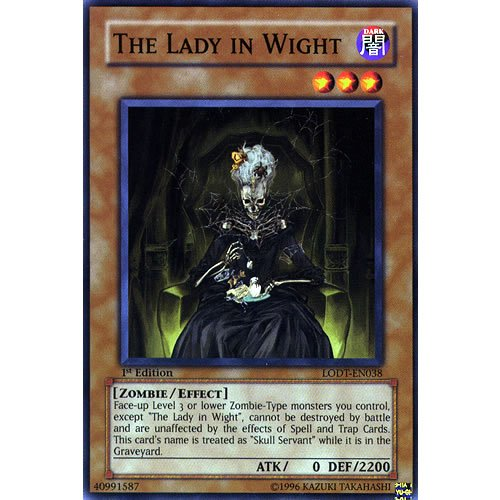 LODT-EN038 Unlimited Ed The Lady in Wight Common Card Light of Destruction...