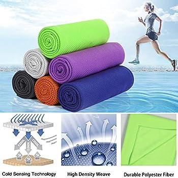YOOFOSS Serviette Microfibre, Serviette de Sport, Séchage Rapide, Ultra-absorbante, Parfaite pour Le Camping et randonnée, Voyages, Plage, Yoga