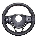 HCDSWSN Coprivolante in Pelle Scamosciata in Vera Pelle Nera Cucita a Mano Fai da Te per BMW E70 X5 2008-2013 E71 X6 2008-201