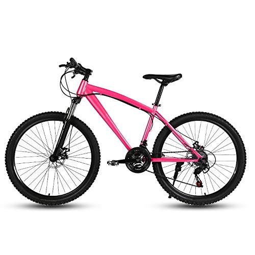 ZJBKX Bicicleta De Montaña De 24 Pulgadas, Freno De Disco Doble De Velocidad Variable Bicicleta para Estudiantes De Velocidad Variable Masculina Y Femenina 21speed