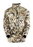 SITKA Gear Traverse Jersey de manga larga con cremallera T resistente a la abrasión para hombre, de manga larga, Optifade Subalpine, XL