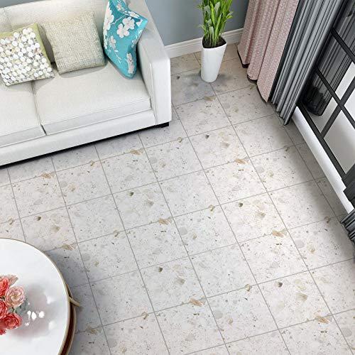 PVC Bodenbelag selbstklebend Bodenfliesen Abriebfester Vinyl Boden 3㎡/Rolle Flisenoptik Klebefolie Matt Flisenaufkleber Dekorfolie (60x500 cm)
