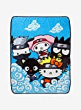 Naruto Shippuden X Hello Kitty And Friends Cloud Throw Blanket MULTI One Size