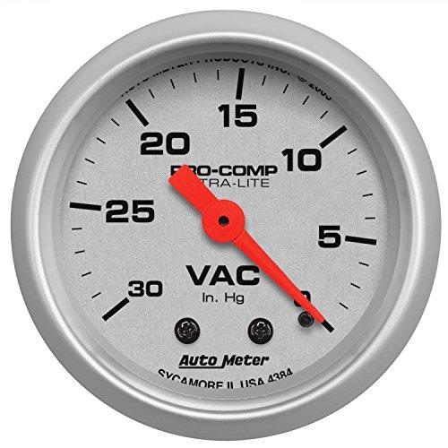 Auto Meter 4384 Ultra-Lite Mechanical Vacuum Gauge Regular, 2.3125 in.