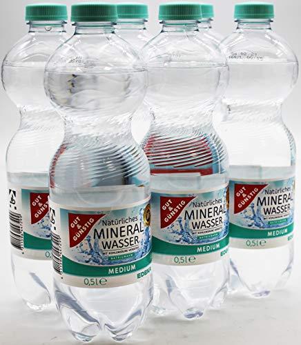 Gut und Günstig Natürliches Mineralwasser Medium, 6er Pack (6 x 0.5 l) EINWEG