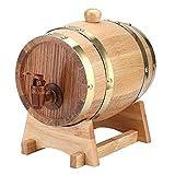 Barril de whisky, 1.5L Vintage Premium Envejecimiento de roble Madera Barril de cerveza Cubo de barril de vino Accesorios de elaboración de cerveza casera para tequila, salsa picante, ron, borbón