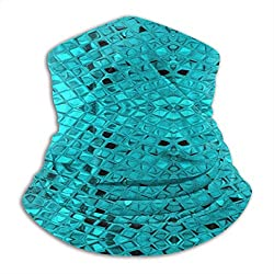 Sequins Mouth Mask Soft Comfortable Neck Gaiter Warmer