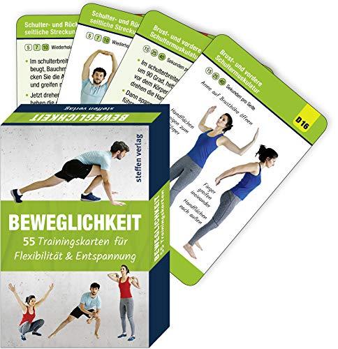 Beweglichkeit: 55 Trainingskarten für Flexibilität & Muskelentspannung (Trainingsreihe von Ronald Thomschke): 55 Trainingskarten für Flexibilität & Entspannung