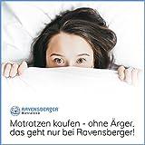 Ravensberger Matratzen Latex Oeko TEX 100 7-Zonen-Komfort | H2 RG 60 (45-80 kg) | Made IN Germany - 10 Jahre Garantie | Baumwoll-Doppeltuch-Bezug | 90 x 200 cm - 6