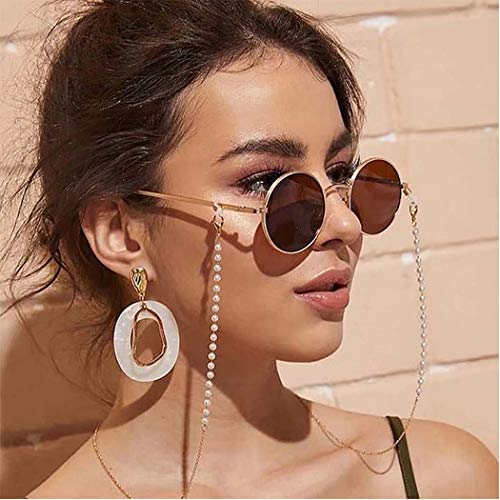 catena occhiali Bohend Semplice Perle Catena di occhiali da sole Oro Catena per maschera facciale Catena per occhiali Accessori per occhiali Per Occhiali e occhiali da sole