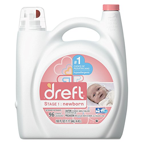 Dreft 80377EA Ultra Laundry Detergent Liquid Original Scent 150 oz Bottle