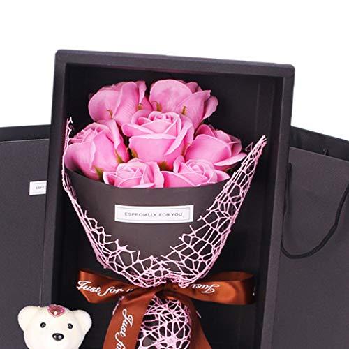 Fengyuanhong Romantische Big kerstdag Gift Bear Soaps Rose Bloemen Bad Bloemblaadjes Valentijnsdag/bruiloft/feest Gift Decoration