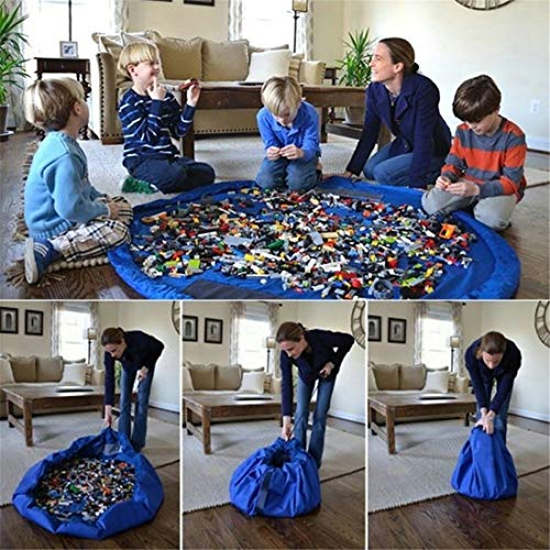 Kids Toy Portable Organizer Storage Bag Play Mat for Lego Blanket Box Rug 150cm