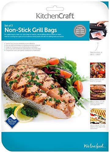 Kitchen Craft Lot de 3 sachets de cuisson pour grill anti-adhésif et réutilisables