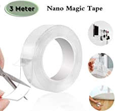 Basic Deal Grip Mg-3m/9.8 ft Secure Anything, Double Sided Reusable Adhesive Silicone Anti-Slip Strong Adhesive Traceless Multi-Functional Sticky Strips Tape, Transparent