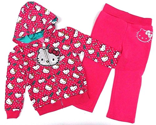 Hello Kitty 80/86 Sweatjacke + Hose Jogginganzug pink Katze US Size 24 Month Girl (80/86)