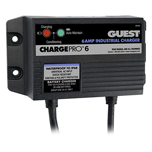 Marinco ChargePro 6-Amp 1 Bank 12V Waterproof Battery Charger