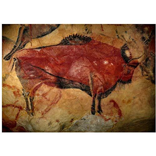 LIUXR Pintura rupestre de Bisonte de la Cueva de Altamira Ca