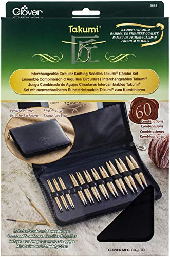 Clover Takumi Bamboo Circular Interchangeable Knitting Needles