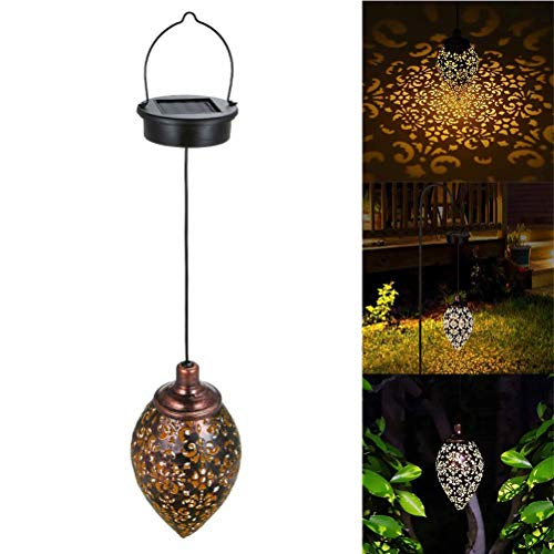 Bestevery 1 PCS Solarlaterne für außen, LED Solar Laterne Hängend, Solarlampe Garten Laterne für Garten, Balkon, Hof, Pfad Ornaments