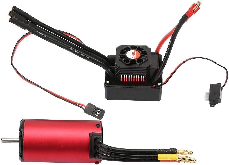 preferente RC Coche Motor & ESC, Impermeable Impermeable Impermeable sin Escobillas 2000KV 4076 Motor & KS120A ESC Combo Set para RC Modelo de Coche  gran descuento