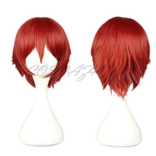 COSPLAZA Assassination Classroom Anime Cosplay Perücken Akabane Karuma Rot Party Haar