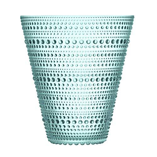 Iittala Kastehelmi Deko Vase, Glas, Wassergrün, Water Green, 15,4 cm Limited Edition 2018 X bloomon