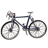 Gazechimp Miniatur Fahrrad Modell aus Legierung für 1/10 Skala Puppe Haus Garten Dekoration - 19 x 4 x 12 cm - Dunkelblau -