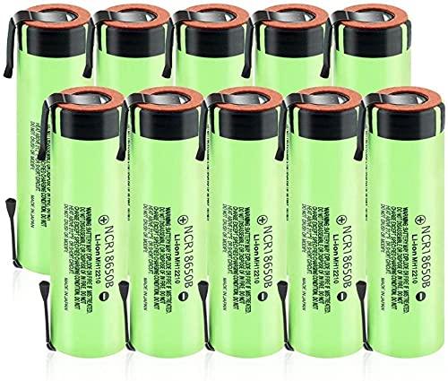 3.7V 3400Mah Baterías De Iones De Litio 18650 Nuevas Baterías Recargables De Litio 20A con Pestañas De Níquel-10Pcs