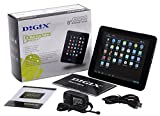 DIGIX TAB-840 Tablet with 8' Touchscreen, Android 4.1 OS, Dual-Core processor, 2MP Camera, Quad-core Graphics, 1GB RAM, Bluetooth v3.0, Wi-Fi, MP3 / Video Player and microSD Slot - White/Black