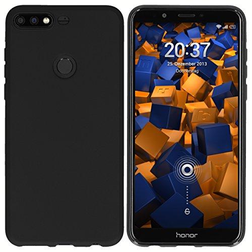 mumbi Hülle kompatibel mit Honor 7C Handy Case Handyhülle, schwarz - 2
