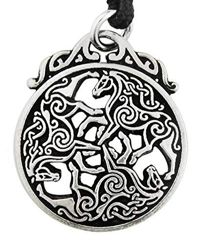 Pewter Celtic Knot Horse Triskele Pendant