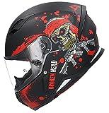 Casco Shiro SH-890 Broken Head Negro Mate Y Rojo EDICION Limitada HOMOLOGADO Unisex con PINLOK Incluido M