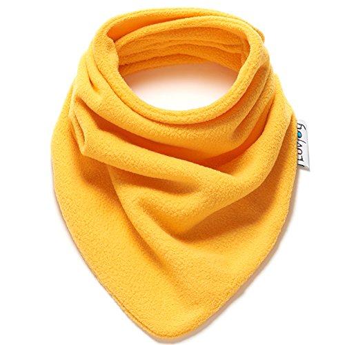 Bufanda polar de invierno para bebé/niño pequeño (Amarillo)