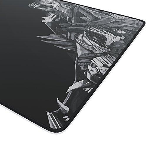 Titanwolf Mauspad XL Speed Gaming - 440 x 350mm - Komfort Mousepad - Tischunterlage Kopf - verbessert Präzision und Geschwindigkeit
