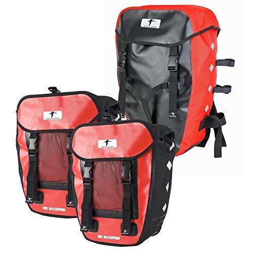 Red Loon IDEALE HITEC 3 Fahrradtaschen Gepäcktaschen schwarz/rot